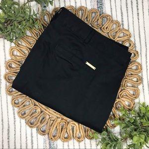 Michael Kors Black Cotton Ankle Pants